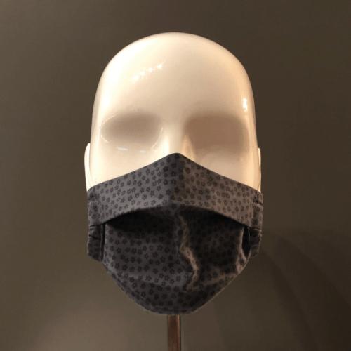 Couvre-visage 3 épaisseurs avec 2 plis Le Kiosque (face)